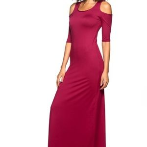 Maxi Dress with cut out shoulders